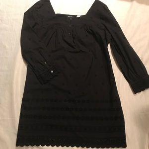 Madewell Eyelet Black Shift Dress